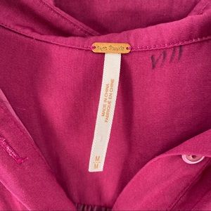Free People Tops - Free People Magenta Pink Sheer Top Size Medium